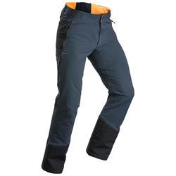Men's warm hiking trousers SH520 x-warm - grey orange