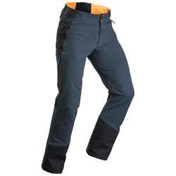 Pantalon chaud de randonnée homme SH520 x-warm gris orange.