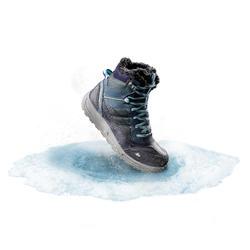 Chaussures de randonnée neige femme SH120 chaude mi-hauteur bleu