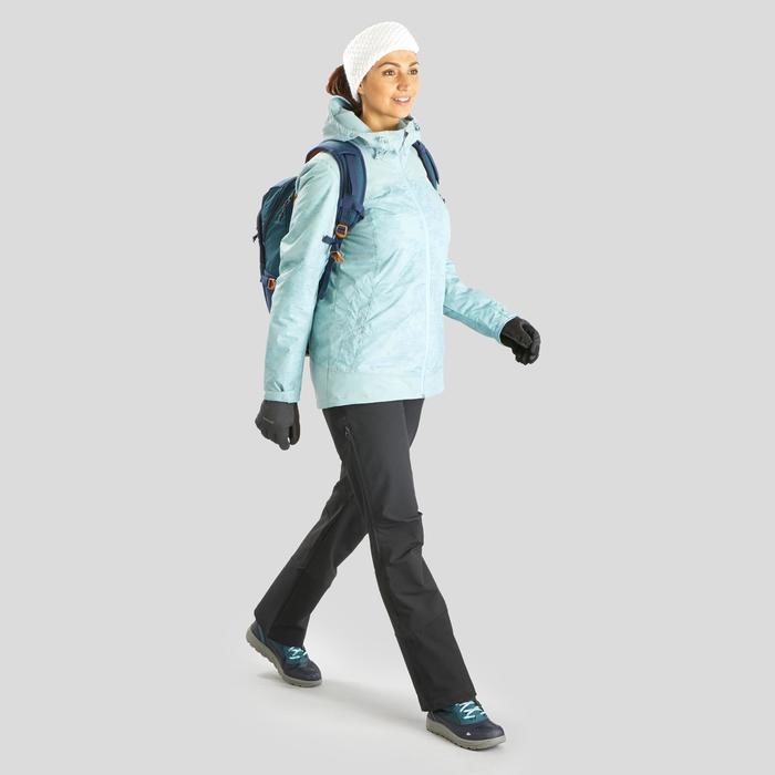 Chaussures de randonnée neige femme SH120 warm mid bleu