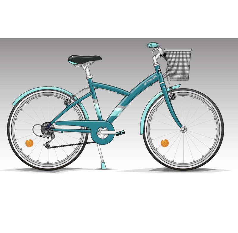 KIDS HYBRID BIKES 6-12 YEARS Cycling - Original 500 Hybrid Bike 9-12 B'TWIN - Bikes