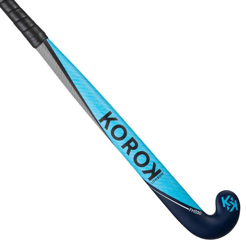 Hockeystick voor gevorderde volwassenen low bow 50% carbon FH550