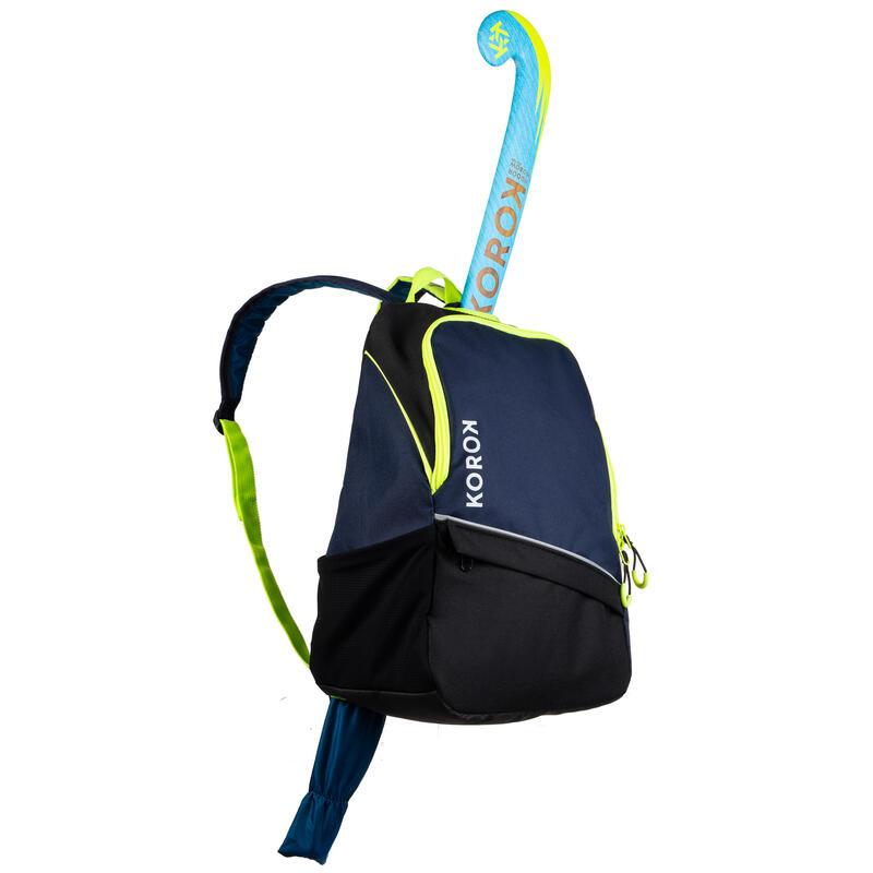 FH100 Kids' Field Hockey Backpack - Blue/Yellow