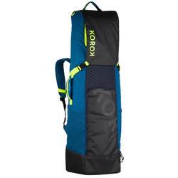 Stickbag voor veldhockey groot volume H560 tiener/volwassene blauw/geel