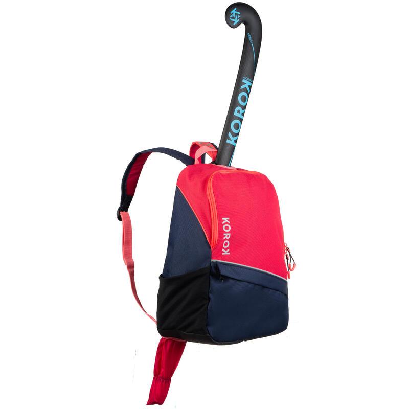 FH100 Kids' Field Hockey Backpack - Blue/Pink