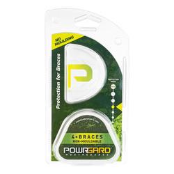 Protège-dents de hockey sur gazon Powrgard 4.Braces appareil dentaire incolore