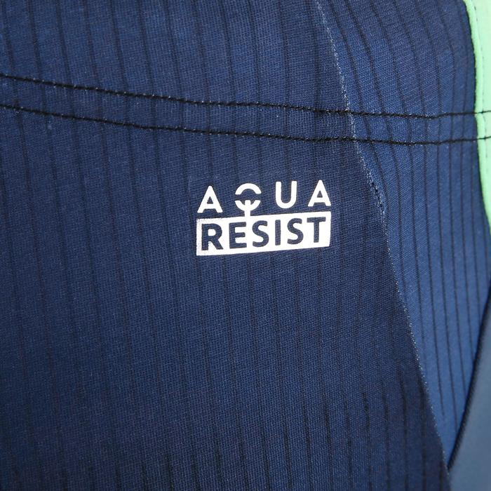 男款長版四角泳褲500 - 漸層灰色