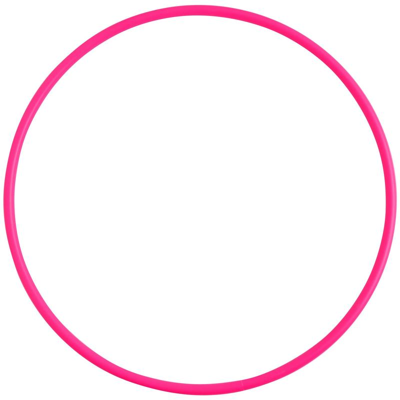 Hoepel voor ritmische gymnastiek 65 cm roze
