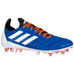Botas de Rugby Adidas Malice taco mixto adulto azul y naranja