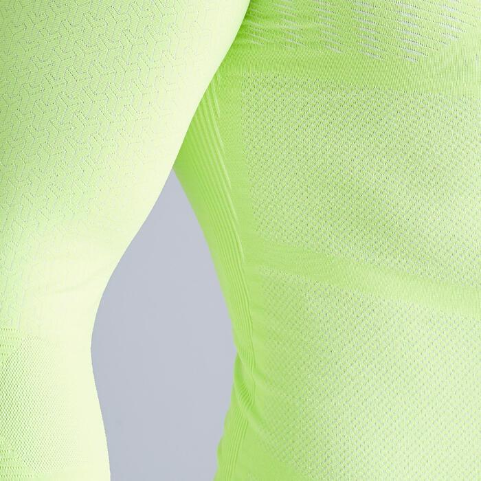 Ondershirt voor volwassenen Keepdry 500 fluogeel