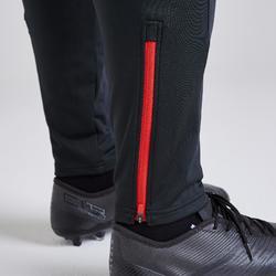 Trainingshose lang T500 Erwachsene grau/rot