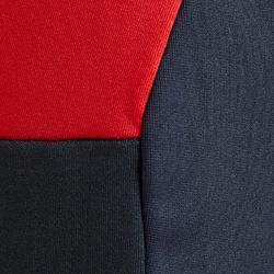 Voetbalbroek T500 volwassenen carbongrijs rood