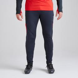 Pantalon de football adulte T500 gris carbone rouge