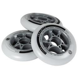3 wielen voor skeelers volwassenen Powerslide Infinity 100 mm 85A wit