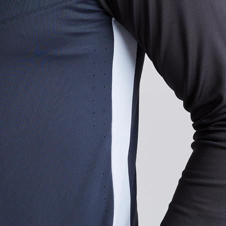 T500 Adult 1/2 Zipper Soccer Training Sweatshirt - Carbon Black