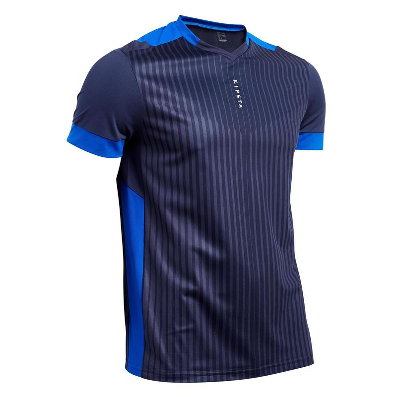 check-out f47fb b1e18 Textile Match et Entraînement - Maillot de football adulte F500 bleu marine