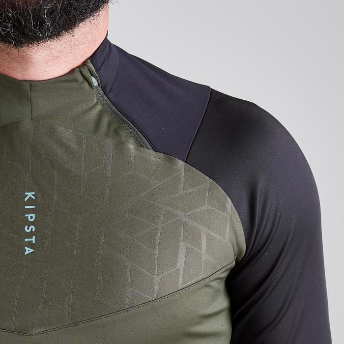 Voetbalsweater voor volwassenen 1/2 rits T500 limited edition zwart/kaki webexcl