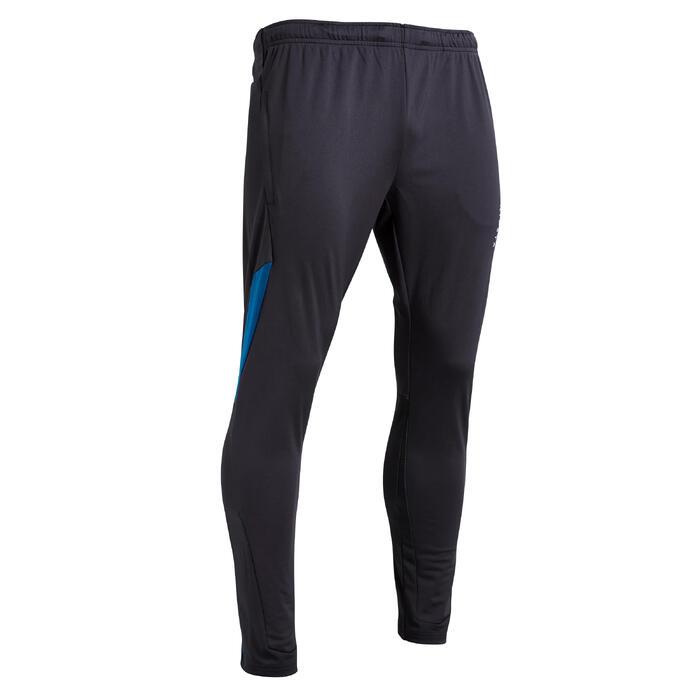 Voetbal trainingsbroek T500 limited edition zwart/blauw