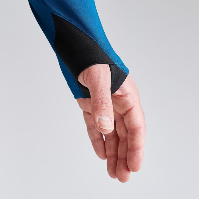 Sweat de football 1/2 zip adulte T500 édition limitée bleu de Prusse et noir