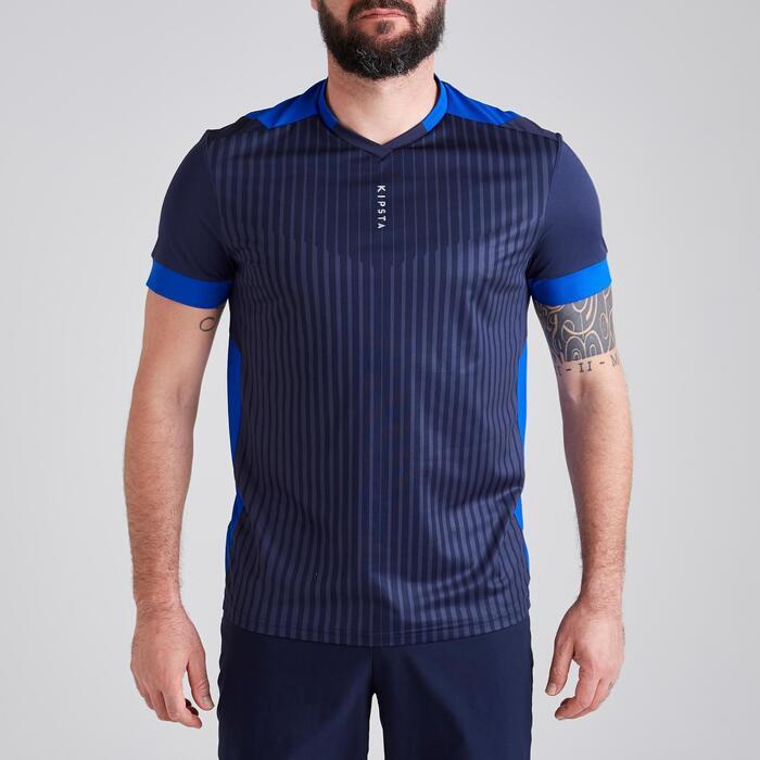 Voetbalshirt voor volwassenen F500 marineblauw