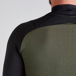 Sweatshirt T500 Zip Erwachsene schwarz/kaki Limited Edition