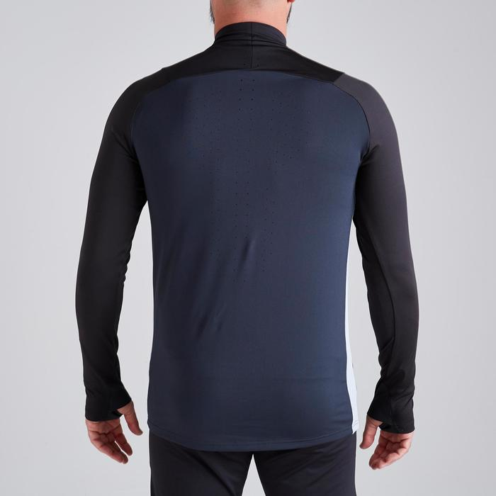 T500 Adult 1/2 Zip Football Training Sweatshirt - Carbon Black