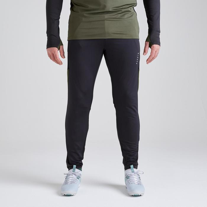Trainingshose lang T500 Erwachsene schwarz/khaki Limited Edition