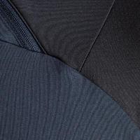 Chandail de soccer 1/2 glissière adulte T500 noir carbone