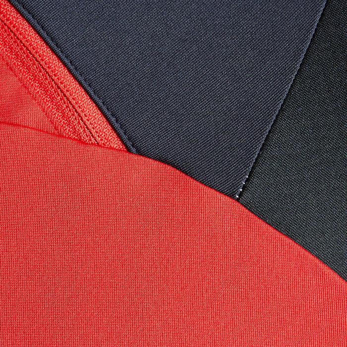 Sudadera Fútbol Kipsta T500 PE19 Adulto Rojo Negro 1/2 Cremallera