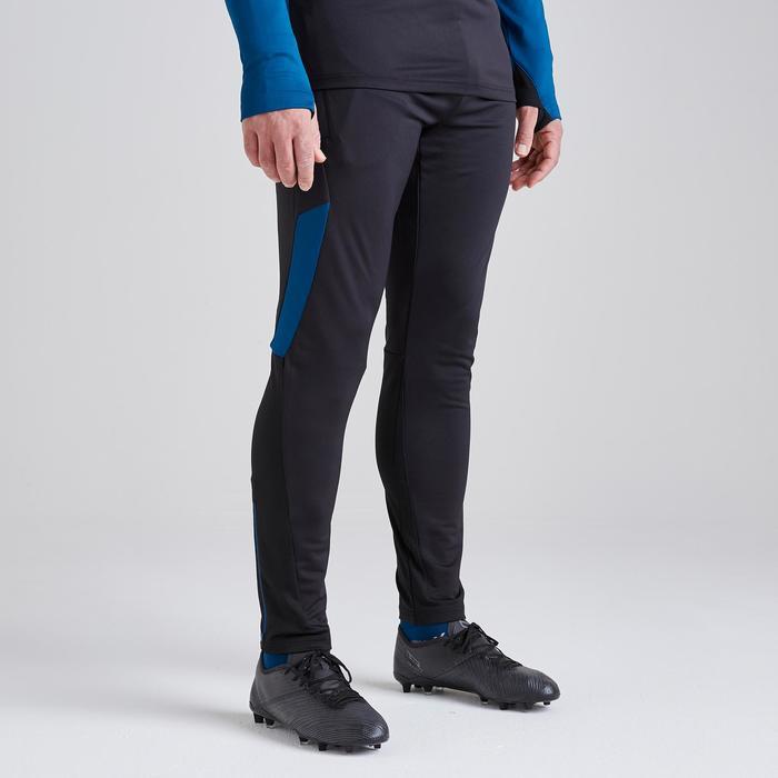 Voetbalbroek voor volwassenen T500 Limited Edition zwart blauw