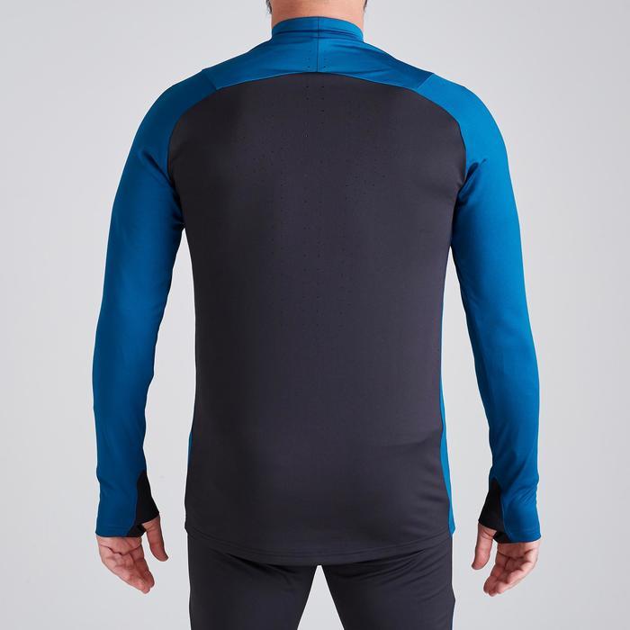 Trainingsjack voetbal T500 limited edition blauw/zwart
