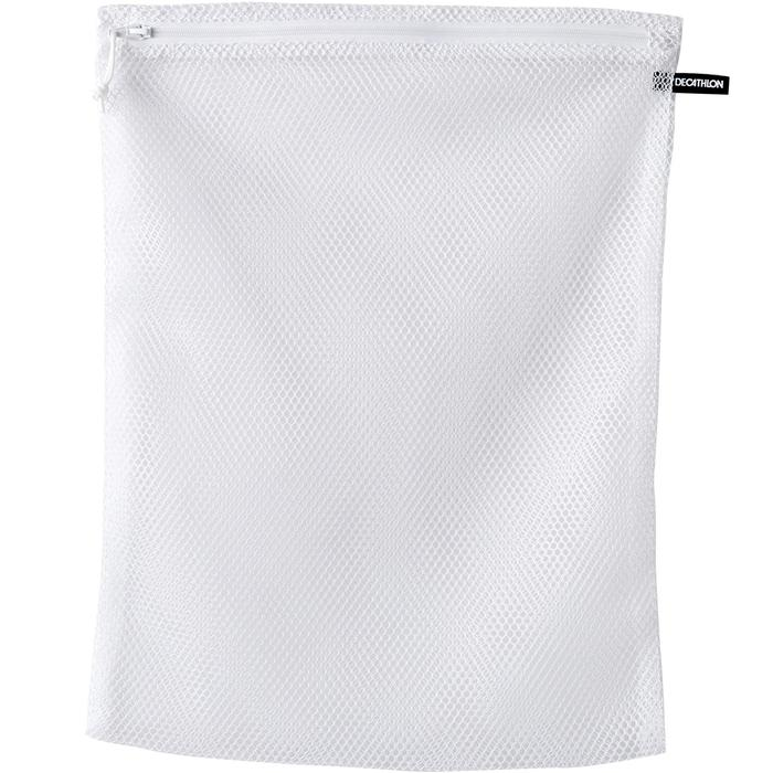 Wasnetje wit met ritssluiting