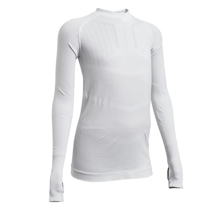 Thermoshirt kind Keepdry 500 lange mouw wit