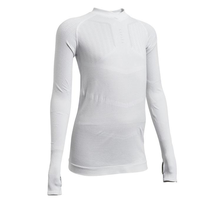 Voetbalondershirt voor kinderen Keepdry 500 wit