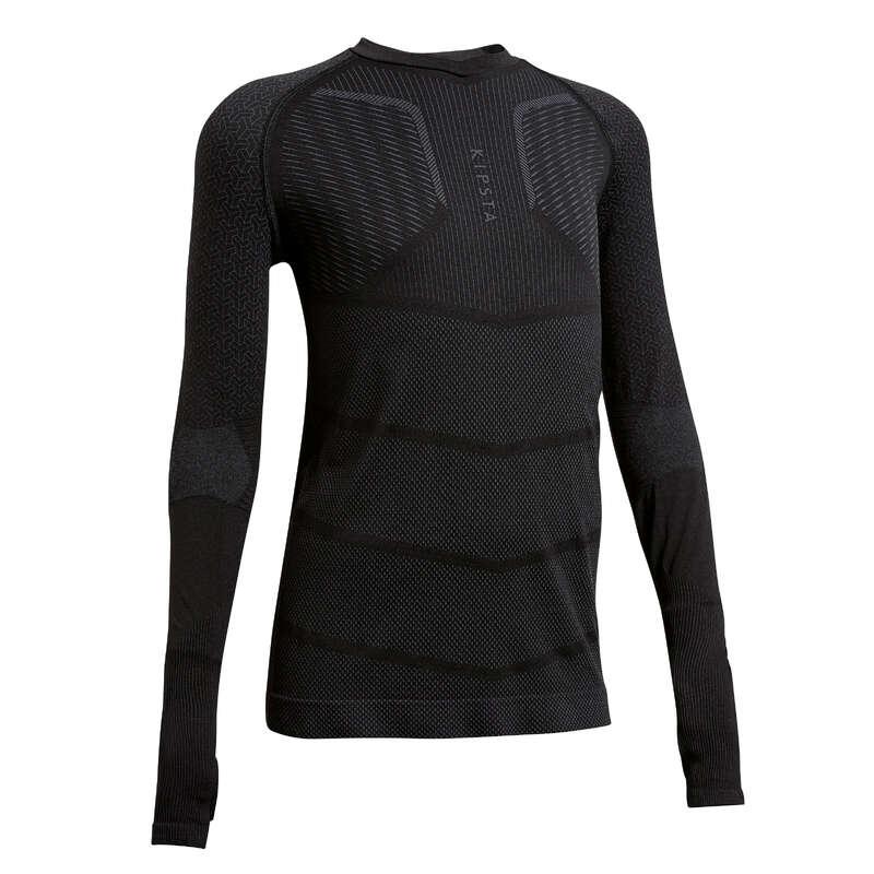 UNDERKLÄDER LAGSPORT JUNIOR Barnkläder - Keepdry 500 Junior svart KIPSTA - Underkläder