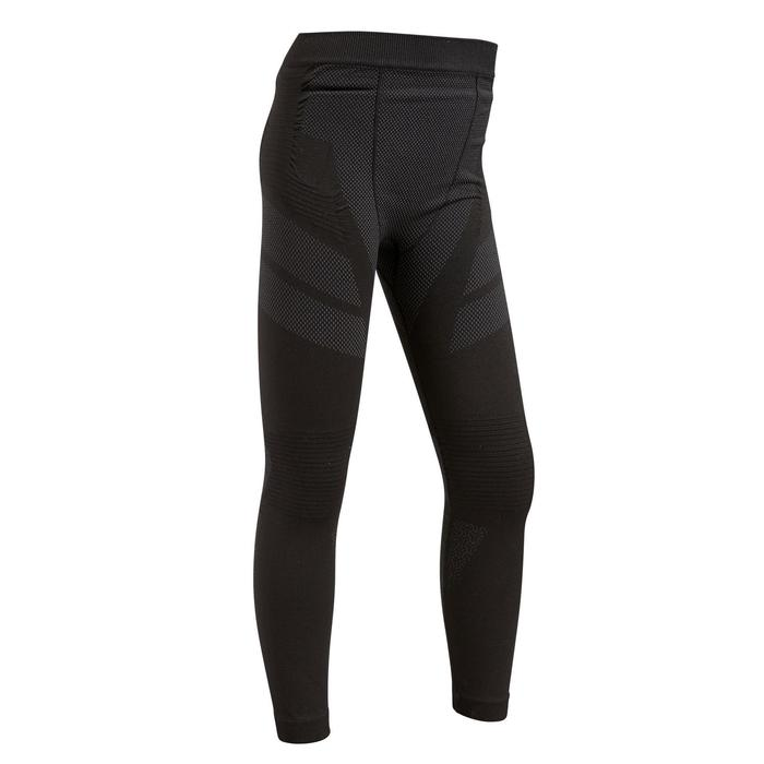 兒童款緊身褲Keepdry 500-黑色