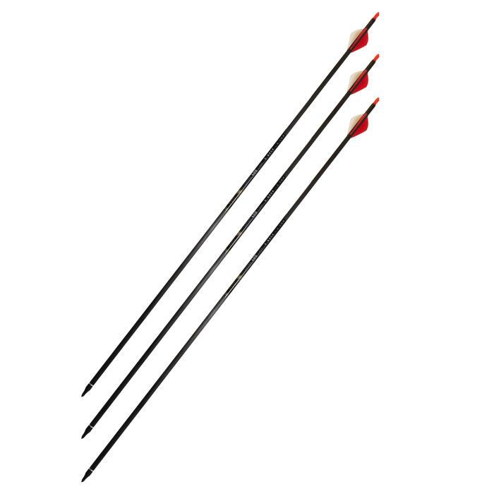 """Flèche chasse arc à poulie 28"""" Spine 400 x3"""