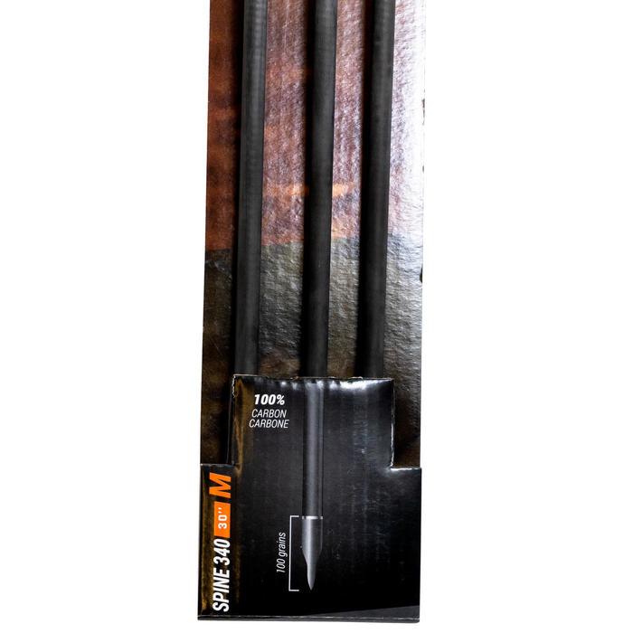 """Flèche carbone chasse arc à poulie 30"""" Spine 340 x3"""