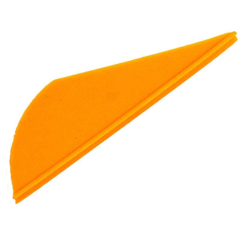 BOW HUNTING ACCESSORIES - HUNTING FLETCHINGS x6 ORANGE SOLOGNAC