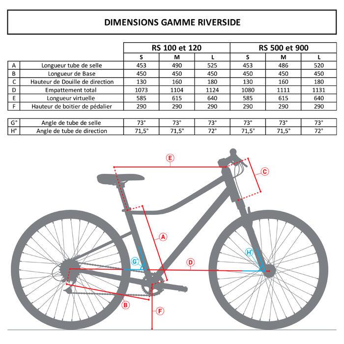 Hybride fiets Riverside 500 wit