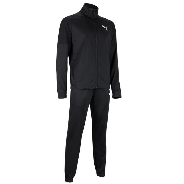 Trainingsanzug Fitness Cardio Herren schwarz