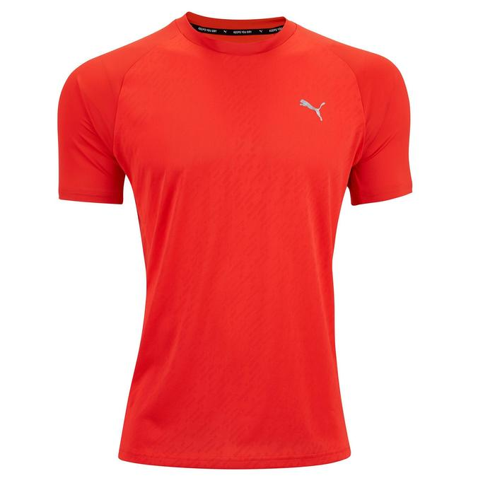 T-Shirt Cardio-/Fitnesstraining Herren orange