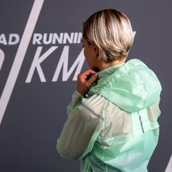 Regenjas voor hardlopen dames Kiprun Light lichtgroen