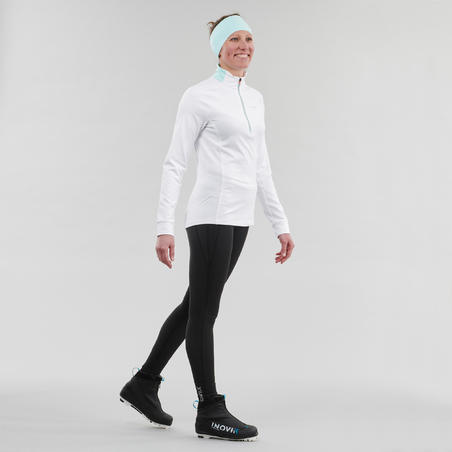 Women's Cross-Country Skiing Warm Tights XC S 100 - Black