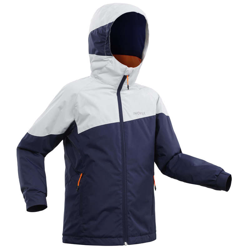JUNIOR CROSS COUNTRY SKI CLOTHING Cross-Country Skiing - KIDS' JACKET 100 XC S - Blue INOVIK - Cross-Country Skiing