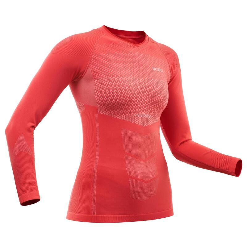 Maglia termica sci di fondo donna 500 rosa