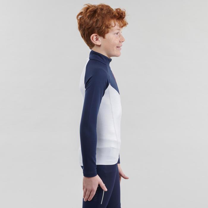 Camiseta cálida manga larga júnior XC S TS 100 azul