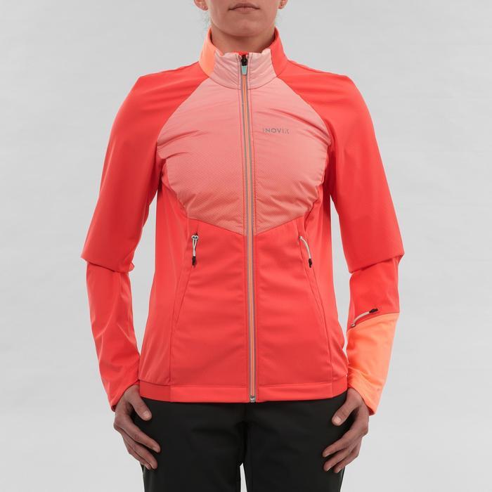 Chaqueta de esquí de fondo mujer XC S JACKET 550 rosa