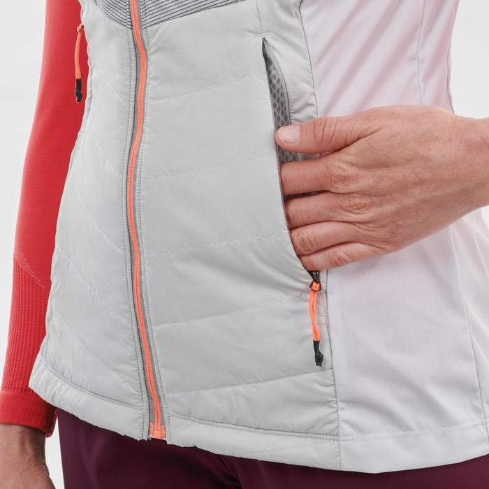 Langlaufbodywarmer voor dames XC S Vest 500 wit