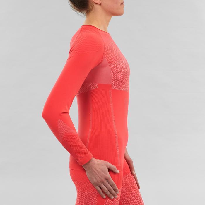 Prenda interior técnica parte de arriba esquí de fondo XC S UW 500 mujer rosa